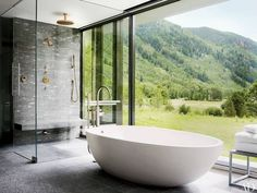 Luxury Bathroom Master Baths Dreams is agreed important for your home. Whether you choose the Luxury Bathroom Master Baths Photo Galleries or Luxury Master Bathroom Ideas Decor, you will create the best Bathroom Ideas Apartment Design for your own life. Architectural Digest, Luxury Bathtub, Luxury Shower, Luxury Bathrooms, Modern Bathrooms, Small Bathrooms, Bathrooms Decor, Modern Bathtub, Yellow Bathrooms