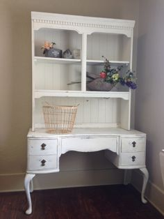 Shelves and Bureau for party favors, pictures, dessert table. All vintage rentals at the best prices from Rent Some Vintage