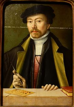 Self portrait by Ludger tom Ring d. J., 1547 AD, oil on oak - Herzog Anton Ulrich-Museum - Braunschweig, Germany - DSC04549 - Ludger Tom Ring the Younger - Wikipedia