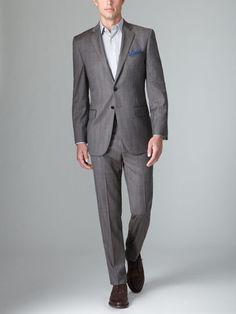 Joseph Abboud Wool Plaid Suit + pocket square = perfect