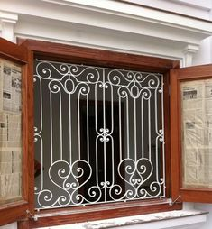 Excellent Photos models of metal door Style, concrete fence buy / buy va . - Excellent Photos models of metal door Style, La mejor - Window Grill Design Modern, Grill Gate Design, Iron Gate Design, Railing Design, Window Design, Wrought Iron Window Boxes, Wrought Iron Decor, Iron Wall Decor, Iron Windows