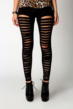 db632ed7b324d Black Leather Leggings, Striped Leggings, Leather Trousers, Printed Leggings