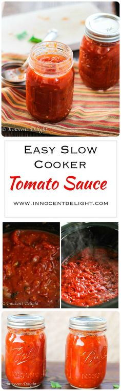 Easy Slow Cooker Tomato Sauce - so easy and so much better than store bought tomato sauce.