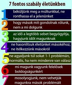 7 fontos szabály életünkben | Socialhealth Jokes Quotes, Life Lessons, Healthy Life, Mantra, Motivational Quotes, Wisdom, Songs, Lifestyle, Therapy