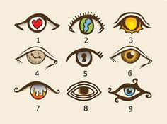 A personality test based on your choice from the eyes below. According to this analysis that went viral on social media, choosing one of these eyes may determine if you're a sociopath or a social 7 Chakras, Accurate Personality Test, Eye Pictures, All Seeing Eye, Old Soul, Decir No, The Selection, Hello Kitty, Told You So
