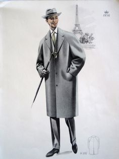 Vintage French Fabulous 1956 Mens Fashion Print From Gent's Outfitters Catalogue by VintageFrenchFinds, $22.00