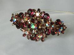 Purple jeweled headband by KAT MANTZ  #HatAcademy #millinery