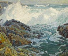 Edgar Payne Laguna breakers 48 x (overall: 56 x Landscape Art, Landscape Paintings, Landscapes, Edgar Payne, American Impressionism, Water Art, Traditional Paintings, Seascape Paintings, Artist Painting