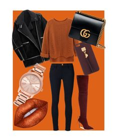 """Autumn style"" by chanelheart ❤ liked on Polyvore featuring Frame Denim, H&M, Pour La Victoire, Henri Bendel, Gucci and Michael Kors"