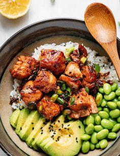 Fish Recipes, Seafood Recipes, Dinner Recipes, Salmon Salad Recipes, Easy Asian Recipes, Baked Salmon Recipes, Lunch Recipes, Deco Restaurant, Dinner Bowls