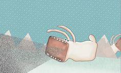 Illustration by EM Miljeteig Bunny, Enamel, Illustrations, Accessories, Shoes, Vitreous Enamel, Zapatos, Shoes Outlet, Hare