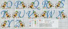 Schema punto croce: Alfabeto con le apette