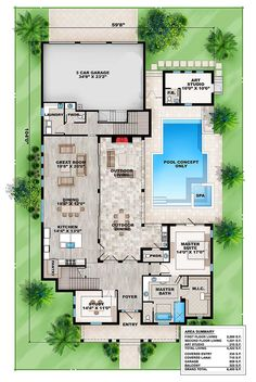 Plan 86040BW: Key West Charmer With Art Studio