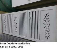 Laser Cut Gate in Coimbatore ,India from Classica Decorative Design Iron Main Gate Design, Home Gate Design, Gate Wall Design, Grill Gate Design, House Main Gates Design, Front Gate Design, Main Door Design, Entrance Design, Railing Design