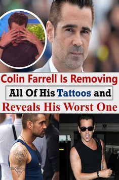 Colin Farrell Is Removing All Of His Tattoos and Reveals His Worst One Laser Removal, New York One, Remove All, The Late Late Show, Bad Tattoos, Love Only, Colin Farrell, Like A Cat, Joe Jonas