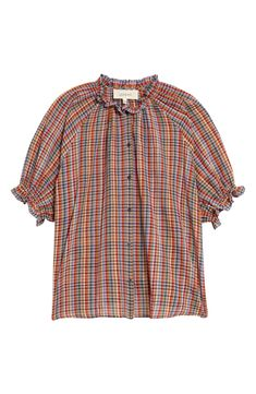Free shipping and returns on THE GREAT. The Gather Plaid Cotton Top at Nordstrom.com. Delicately gathered and frilled with ruffles at the collar and cuffs, this plaid cotton shirt has a laid-back country charm to it. Fall Chic, Collar And Cuff, Winter Fashion, Nordstrom, Plaid, Long Sleeve, Sleeves, Cotton, Mens Tops