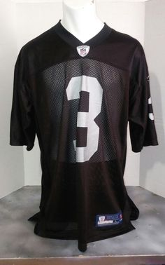 d56db7198 oakland raiders reebok raiders  3 palmer black football jersey L  Reebok   OaklandRaiders Football