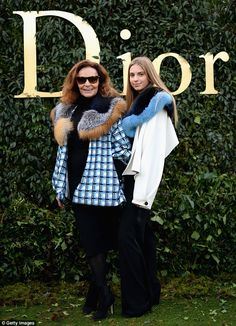 A welcome appearance: Celebrated fashion designer Diane von Fürstenberg was joined by her ...