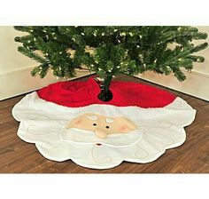 Buy Holiday Memories Santa Tree Skirt - Online Shopping for Canadians Xmas Tree Skirts, Christmas Tree Skirts Patterns, Christmas Skirt, Christmas Sewing, Christmas Cross, Felt Christmas, Christmas Projects, Holiday Crafts, Christmas Stockings