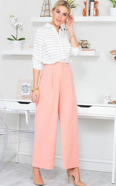 Feeling Flared Pants in Peach | SHOWPO Fashion Online Shopping