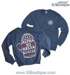 Alpha Xi Delta Holiday Sweatshirt #xiboutique