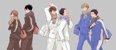 Haikyuu!! - KnB - Free    Oikawa Tooru, Iwaizumi Hajime, Kise Ryota, Kasamatsu Yukio, Rin Matsuoka, Sousuke Yamazaki