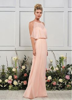 325c03fac4 Buy discount Unique Chiffon Jewel Neckline Floor-length A-line Bridesmaid  Dresses With Belt. KleiderBrautjungfer Kleid StileHochzeitskleid ...