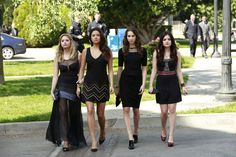 Pretty Little Liars - these girls really know how to rock some funeral dresses :) TV - ABCFamily.com