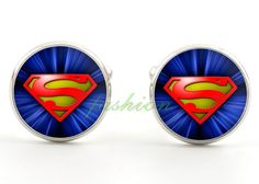 These novelty superman cufflinks show the iconic blue superman logo in modern fashion. A great gift for any idea for any geek. Superhero Cufflinks, Men's Cufflinks, Unique Gifts For Him, Great Gifts, Modern Fashion, Mens Fashion, Superman Logo, Jewelry Gifts, Geek Stuff