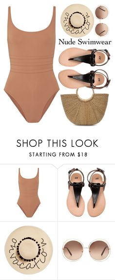 """""""#437 Blended"""" by mayblooms ❤ liked on Polyvore featuring Eres, August Hat, Chloé and nudeswimwear"""