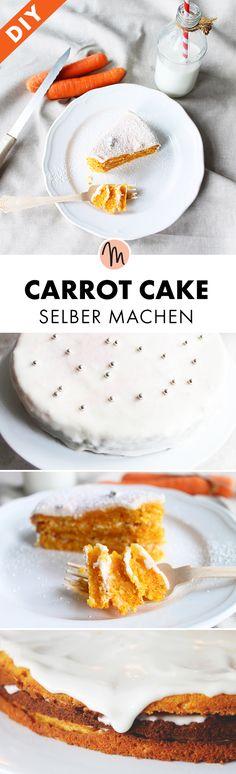 Carrot Cake/Rüblikuchen für Ostern selber machen - Rezept via Makerist.de