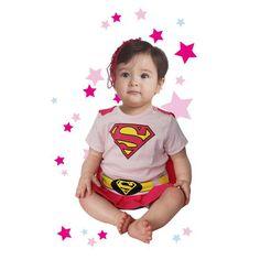 ¿Tienes algún amigo que acaba de tener una hija? Aprovecha y regálale este baby de Superwoman, que seguro que mucha más gente le va a regalar algo normal y