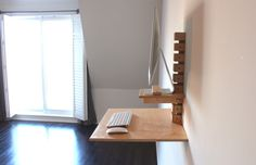 Wall-Mounted Standing Desk - iMac Model – Gereghty Desk Co.