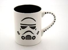 Star Wars R Inspired Storm Trooper Mug in Black and by LennyMud