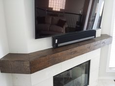 Distressed corner mantel shelf by TheMantelGuy.com   310 977 3218  . Call for quote.