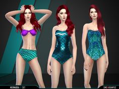 Sims 4 Updates: TSR - Clothing, Female : Mermaidia Set by SIms4Krampus, Custom Content Download!