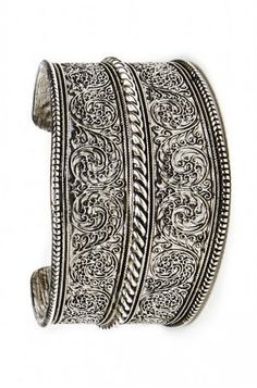 Etched Tribal Cuff