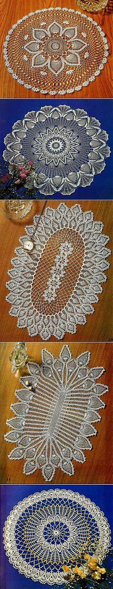 Коллекция салфеточек из журнала Let's Knit Series N 5712 | САМОБРАНОЧКА - сайт…