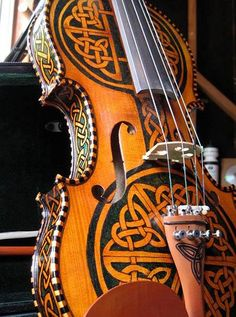 """Should this Celtic fiddle be filed under """"Art"""" or """"Music""""? I can go either way."""