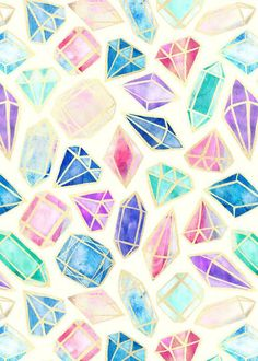 Wallpaper, watercolor background, watercolour, diamond wallpaper, cute back Watercolor Wallpaper, Watercolor Art, Background Watercolour, Tumblr Wallpaper, Iphone Wallpaper, Wallpaper Backgrounds, Crystal Drawing, Diamond Wallpaper, Crystals