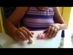 chaveiro bonequinha flor em biscuit - YouTube
