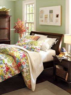 Pottery Barn Bedroom with Benjamin Moore Misted Fern by Benjamin Moore Colors, via Flickr