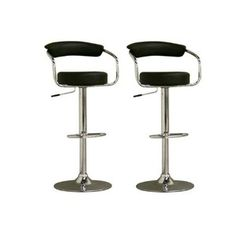 Omicron-Style Adjustable Swivel Bar Stool - Set of 2 Swivel Bar Stools, Retro, Stuff To Buy, Furniture, Arms, Chairs, Home Decor, Style, Counter Height Stools