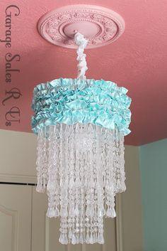 Garage Sales R Us: DIY Chandelier ~ Amazing tutorial for this chandelier.