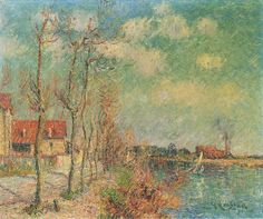 By the Oise River, Gustave Loiseau