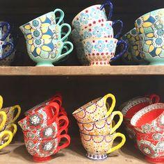 Colourful teacups!