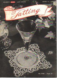 Vintage Tatting Instructional Booklet 1946