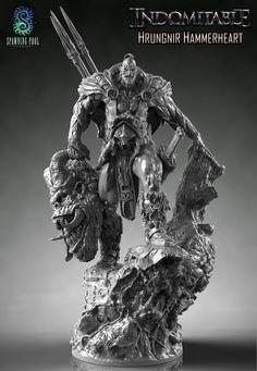 Zbrush, Fantasy Figures, 3d Figures, Action Figures, Character Modeling, Character Art, Character Design, Beast Creature, Modelos 3d