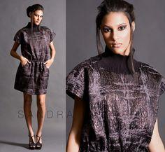 Turtleneck Dress with Elastic Waist