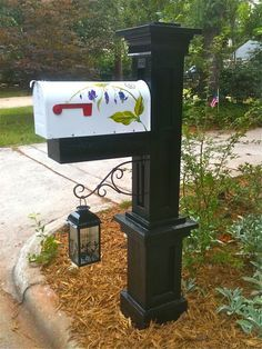 My husband built the post and I painted the mailbox - you can have one too! Torcasso Brothers, Raleigh, NC: Torcassobrothers@yahoo.com